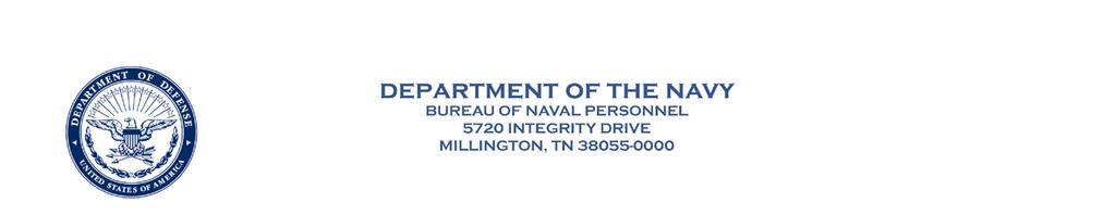 Canc frp: Oct 2018 BUPERSNOTE 5040 BUPERS-00IG BUPERS NOTICE 5040 From: Chief of Naval Personnel Subj: COMMAND INSPECTION SCHEDULE FOR ACTIVITIES UNDER THE FUNCTIONAL CONTROL OF THE CHIEF OF NAVAL