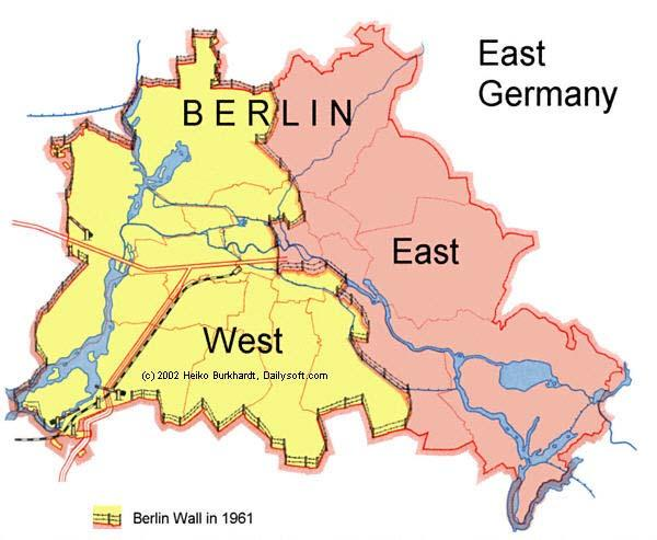BERLIN WALL West Berlin was an island of freedom. Many East Germans fled to West Germany through Berlin.