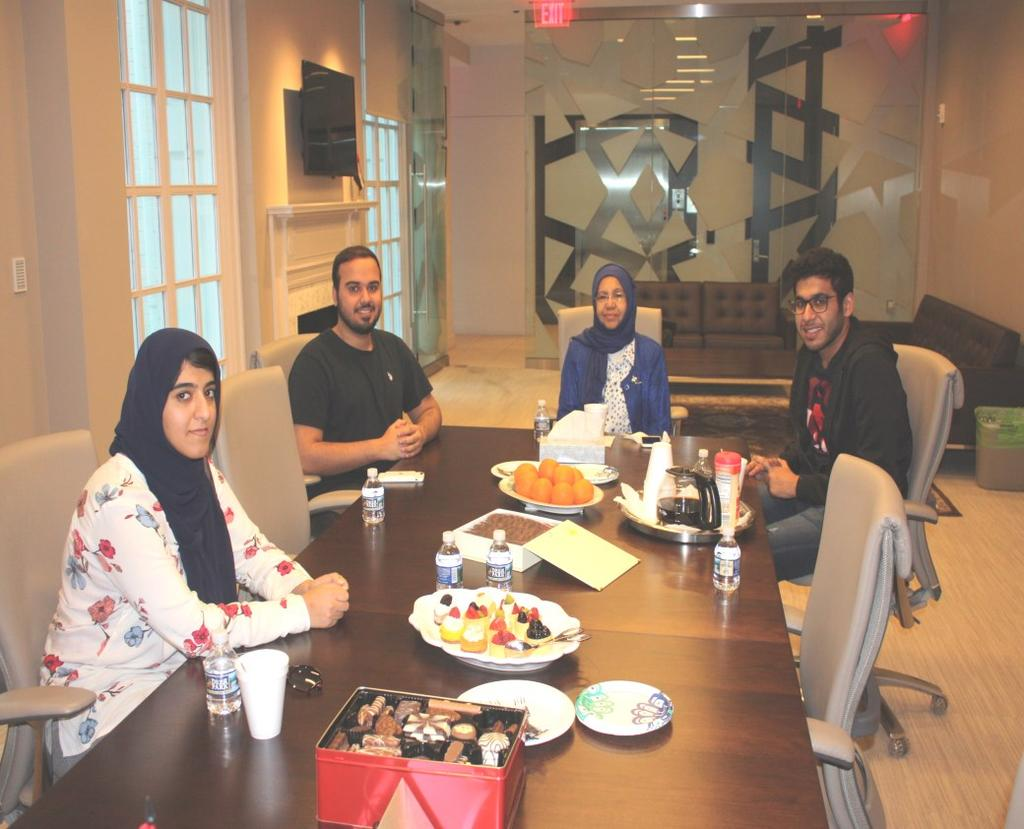 Al Fahad was able to visit universities in three Metro areas to interview UAE students and display their lives as international students in the US. Ms.