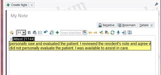 EM TP Attestation.emattestation Select: I personally saw and evaluated the patient.