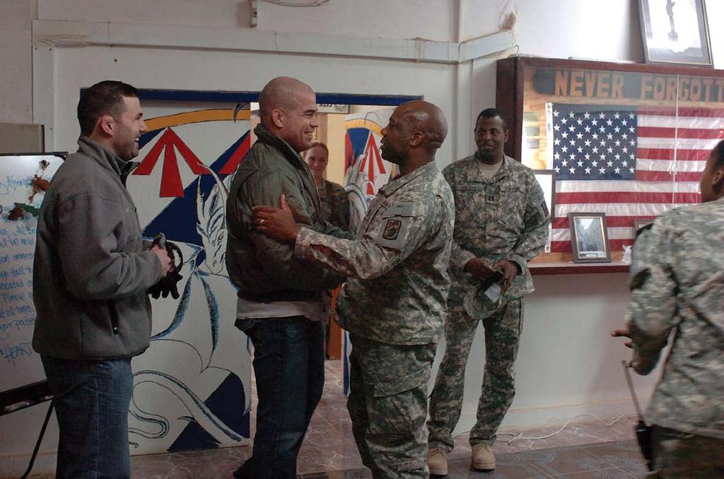 Anaconda Times PAGE 15 FOB Q-West welcomes UFC star Tito Ortiz by Pfc.