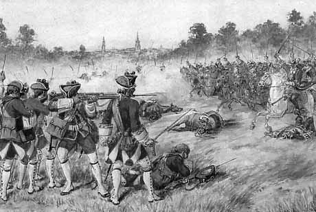 Bayonet War Tactics: The first line would shoot