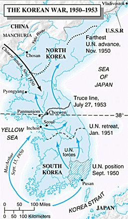 Military Developments MacArthur pushed the North Koreans back to the 38th Parallel.