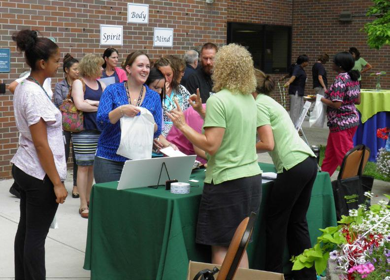 Above: Close to 800 Berkshire Health Systems employees celebrated the 10th anniversary of WellnessWorks