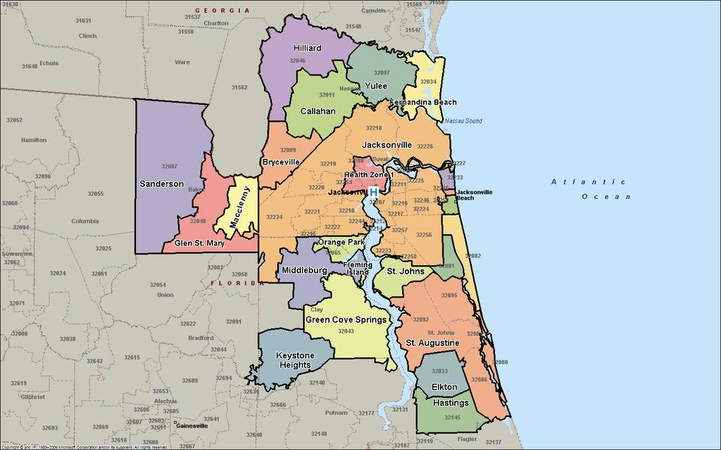 2. Definition of the Community Served For the purposes of Wolfson Children s Hospital s CHNA, the community was defined as Baker, Clay, Duval, Nassau, and St. Johns counties, mapped below.