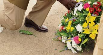 The Chiefs of Services and Divisions in the SANDF layed wreaths at a commemoration service.