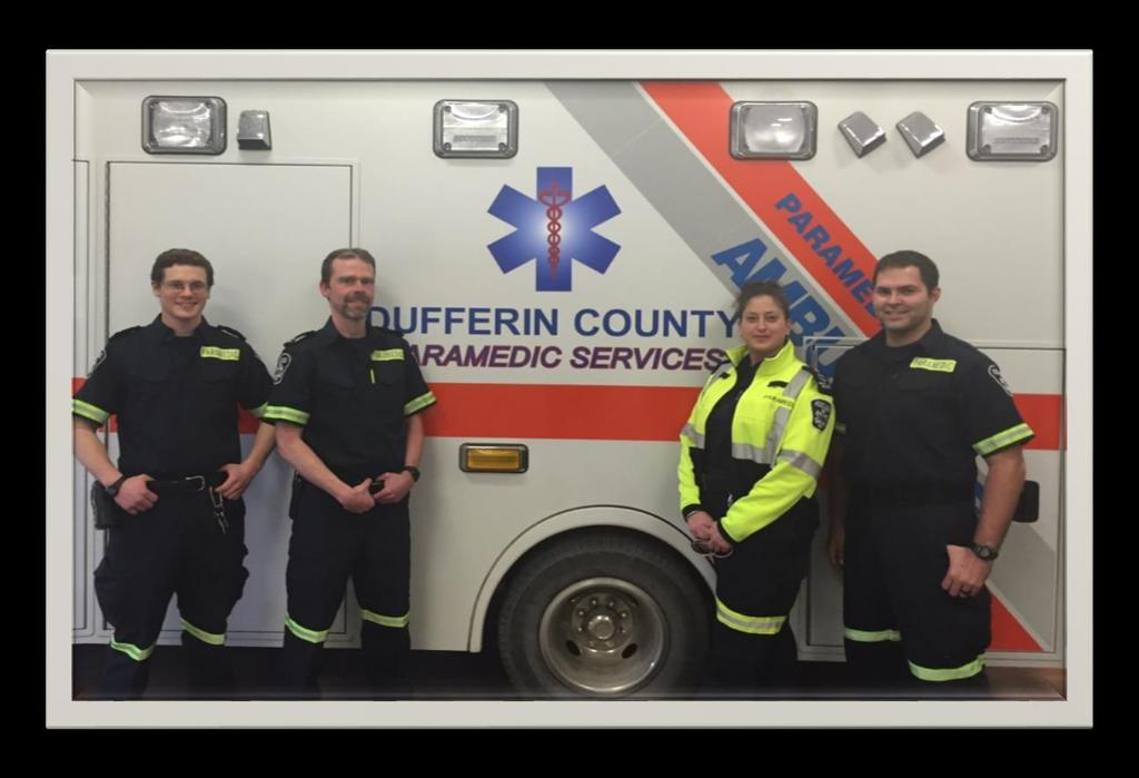Our People Our people are the greatest asset within the Dufferin County Paramedic Service.