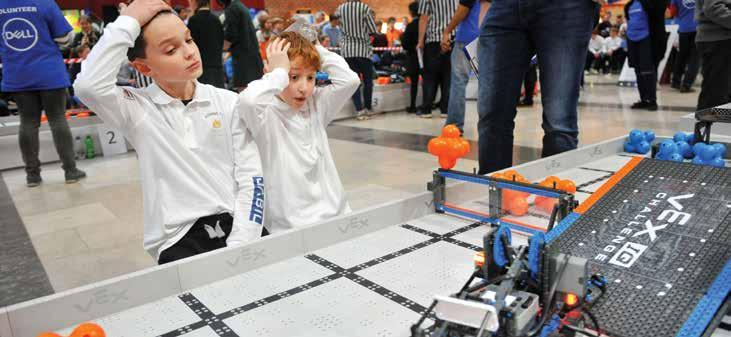 parents that drives us forward. We would like to see every school in the country have the opportunity to participate in the Vex Robotics program.