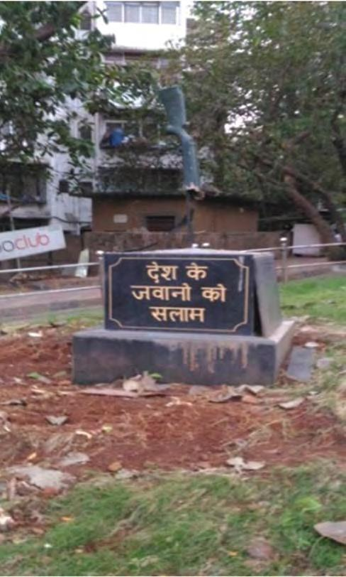 The Rejuvenation of Amar Jawan Monument in Borivali Lieutenant Shreekant Bhende (Retd) permission required maneuvering through the maze of the municipal bureaucracy and the political establishment.