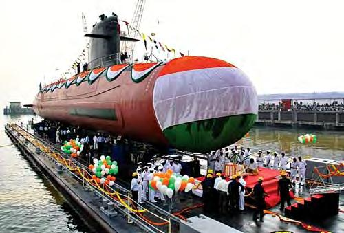 WNC NEWS The second submarine of the Kalvari Class i.e. Khanderi, was launched at Mazagon Dock Shipbuilders Limited (MDL), Mumbai on 12 Jan 17.