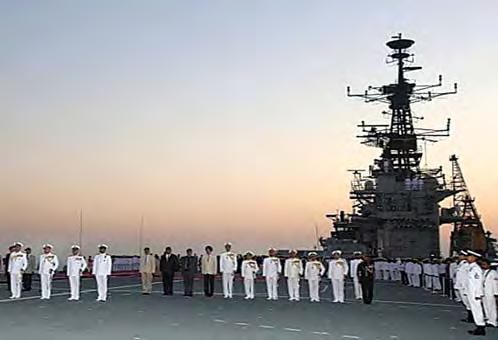 Mar 17, in a solemn yet grand ceremony at Naval Dockyard, Mumbai.