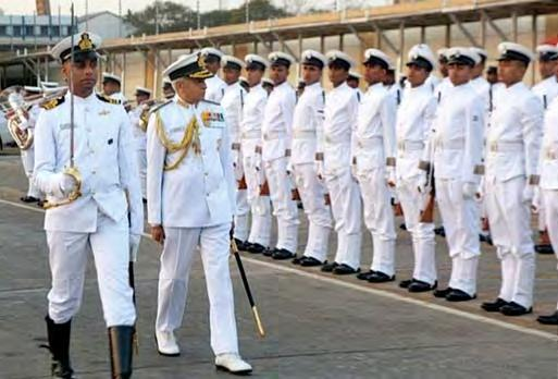 The Chief of the Naval Staff, Admiral Sunil Lanba, who was the second Commanding Officer of Kakinada, was the Chief Guest for the