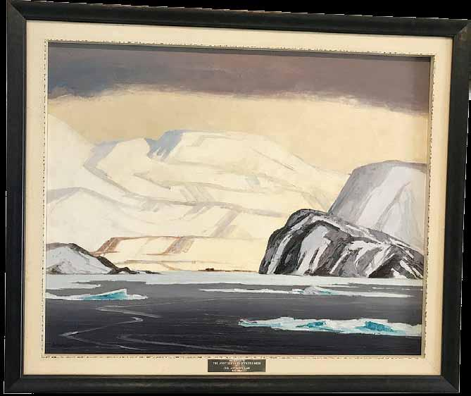 Bellot Straits, NWT, the piece by Cdr Anthony Law, DSC, is just one out of a collection of works by the naval officer and war artist displayed within the museum s new Arctic-focused exhibit, titled