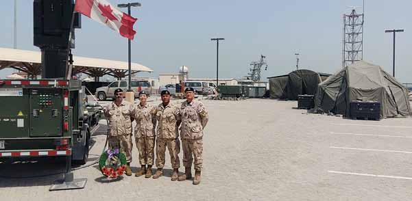 12 TRIDENT News May 28, 2018 CAF personnel in Bahrain mark Battle of the Atlantic Sunday By LCdr David Botting, RCN, International Maritime Exercise Planner, USNAVCENT N5, Bahrain On the first Sunday