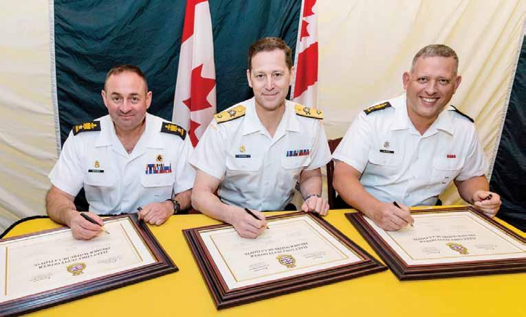 During the ceremony, which was held in the hangar of HMCS Montreal, CPO1 Mercier noted, The passion that the young sailors bring to the Fleet is what I m going to miss the most.