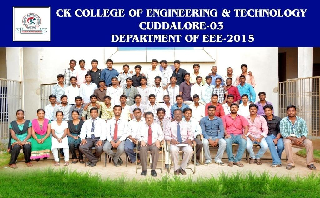 HOD MESSAGE: It is my immense pleasure to send this message to the release of 3 rd Newsletter of our Department Electrical and Electronics Engineering (EEE), CKCET, Cuddalore.