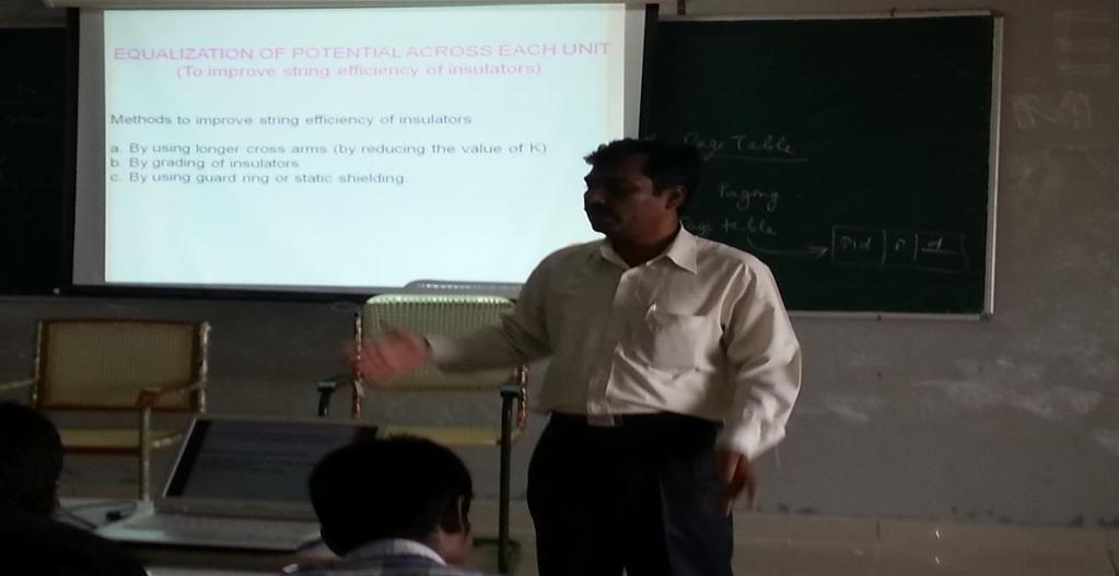 Our Students Association have organized subject oriented second guest lecture for the subject Transmission &