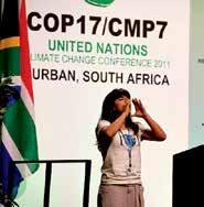 UNDERGRADUATES IN ACTION A Young Voice Challenges the Climate Summit Where is the courage in this room?