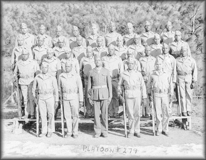 African-American Troops in training Members of the Montford Point