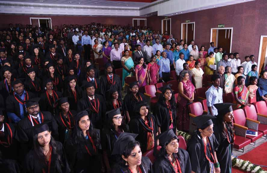 Facts & Figures: 2017-2018 43. The College of Nursing Graduation Ceremony took place on 6 th March 2018, at the Scudder Auditorium, Bagayam.