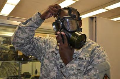 Page 13 JULY 2012 The Chemical Biological Radiological Nuclear Branch The CBRN Sciences Branch provides training to Army Medical Department personnel to prepare them for medical operations on the