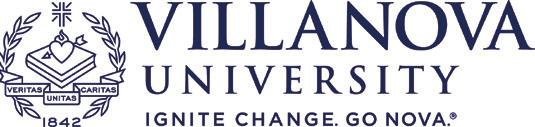 University-level logos Primary As the primary visual graphic for Villanova University, the University logo, or associated logos containing the