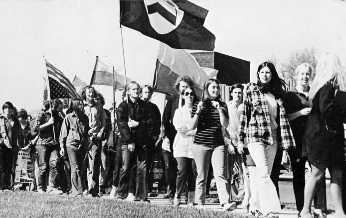 Student protest, 1971, Whitman College.