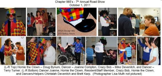 This 7 th annual event for 2011 was our second year to make the event a road trip to the homes rather than have the residents bused in by their staffs.