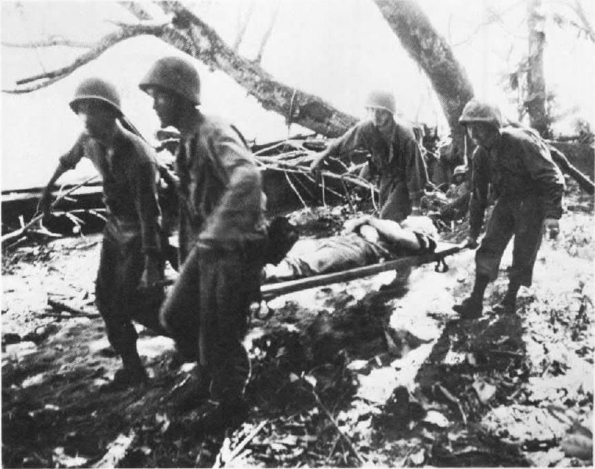 A small Marine patrol destroyed the rear guard of the withdrawing 17th Japanese Division neat Linga Linga 8 April.