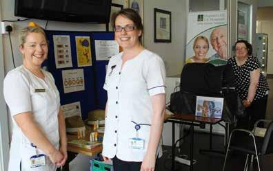 May Dermatology staff nurses Aisling O Shaughnessy and Alma Hourigan with registered advanced nurse practitioner, dermatology, Sheila Ryan, spread the word on sun awareness at Nenagh Hospital.