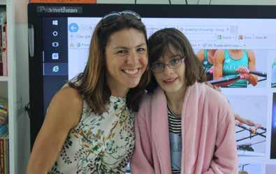 September Amy Pashley, aged 10, from Shannon, County Clare with Dr Sinead Jennings at the Children s Ark School, UHL.