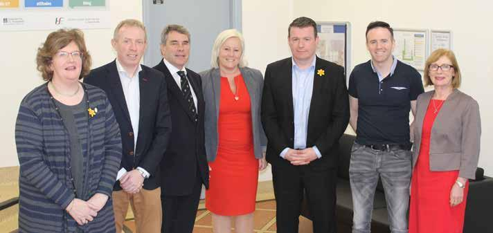 Below Group CEO Prof Colette Cowan at a briefing with members of the Oireachtas Senator Maria Byrne, Deputy Timmy Dooley, Deputy Michael Harty, Deputy Alan Kelly, Deputy Tom Neville and Deputy Jan O
