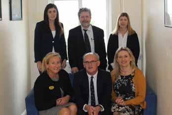 Below Right The Medicine Directorate Team: Dr Catherine Peters, Assistant Clinical Director; Dr Diarmuid Hilton, Associate Clinical Director; Nora Barry, Business Manager; Mairead Cowan, Directorate
