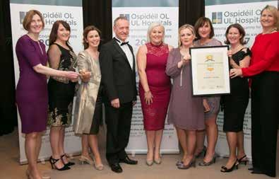 UL Hospitals Group Annual Review 2016 Below Winners of the Quality Improvement Award at the Staff Recognition Awards 2016 were the Infection Prevention and Control and Microbiology teams.