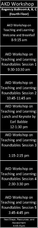 Overview of Wednesday Sessions Note: Pre-registration required for AKD Workshop. To participate in PSA sessions must pay PSA registration. Try the PSA 2018 Program App!