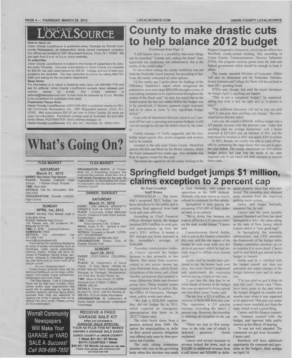 PAGE 4 THURSDAY, MARCH 29, 2012 LOCALSOURCE.