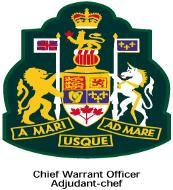 officer (WO). The Tudor crown surrounded by a laurel wreath represents the rank of master warrant officer (MWO).