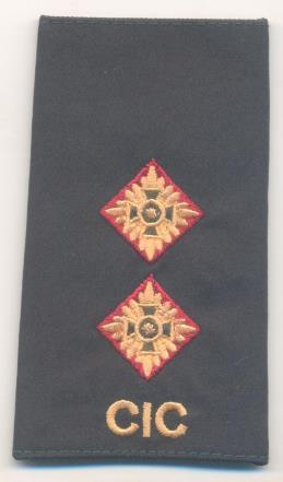 Figure 6 Colour Borders on Rank insignia 1 Generals, Colonels, Royal Canadian Artillery, Logistics, Military Police (red); 2 Royal Canadian Armoured Corps (cavalry gold); 3 Royal Canadian Engineers,