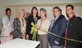 Figure WC2: Opening of the Somerset Hospital STAT laboratory, Ms Faith Koopa (Lab Manager - NHLS GPC Chem Path), Nicolene van der Westhuizen (Support Services - DoH), Nanette Spencer (Acting NHLS
