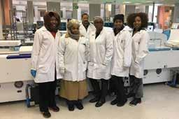 Accreditation continues to be focus area for the region, striving to increase the number of accredited laboratories at provincial tertiary and regional levels.