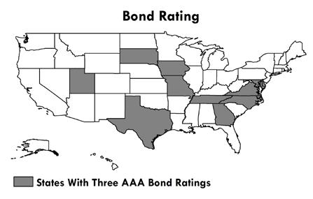 States aspire to have high bond ratings from the three rating services (Moody s Investor Services, Standard & Poor s Corporation, and Fitch Ratings).