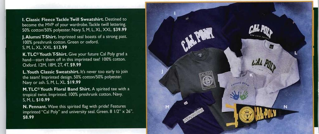 Cal Poly fans with extra spirit will appreciate this hooded sweatshirt's extra-'iong cuffs and waist.