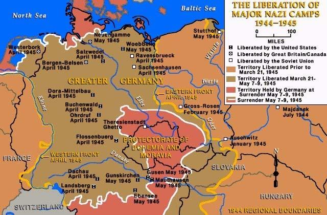 The Soviets discovered many death camps that the Germans had set up
