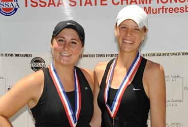 TN) Doubles Champions Michelle Fleenor & Emma McCallie