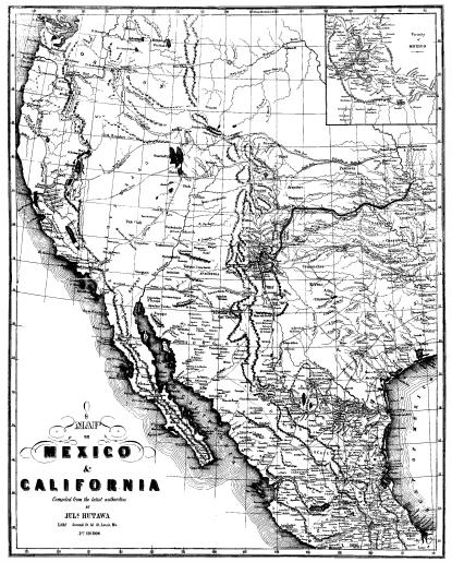 Map: Mexico & California, which shows the Indian