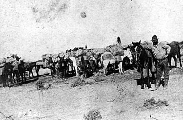 The chain was its wagon train and supplies. 66 General George Crook, commanding in Arizona, came up with the way to unchain the dog.