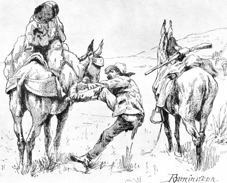 Illustration: A Pack-Horse Man, Frederic Remington. Another Crook innovation was the use of Apache Scouts, often men from the same tribe as those he was tracking.