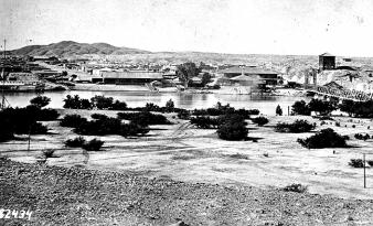 Fort Yuma on the Colorado in about 1881. U.S. Army Signal Corps photo. U.S. Army Lifestyles in the Apache Campaigns: Food Eugene Bandel in 1853 said:.