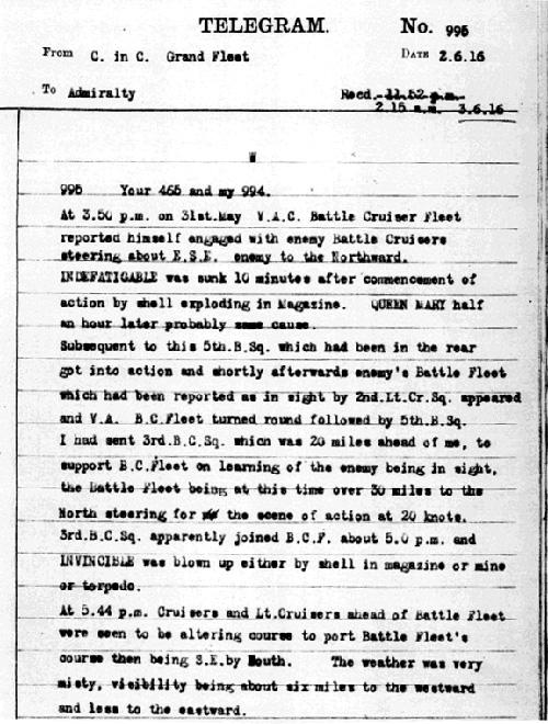 6 Source 2 : Navy Telegram Reporting the