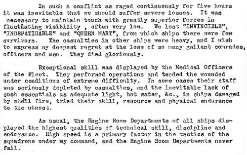 8 Source 3 : A Public Statement Made by the Navy on the Loss of the Indefatigable 1916 (ADM 137/301) Source 3 : Transcript of A Public Statement Made by the Navy on the Loss of the Indefatigable 1916